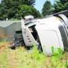 Trash Truck Trashed; Driver Injured