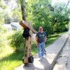 Carrying His Own Cross:  Man Walks To Remind People to Serve Others