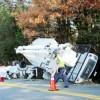 Bucket Truck Overturns