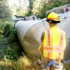 Tractor Trailer Rolls Over on Poorhouse Road