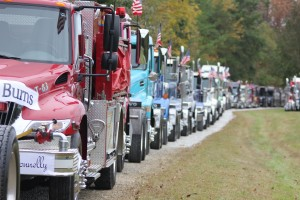 Photo by Evan Jones This year marks the 15th Anniversary of the Trucker's Parade Against Cancer. Over $100,000 was raised, with at total of 185 trucks displaying over 230 banners . For more photos, go to www.southsidemessengerphotos.shutterfly.com.