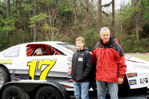 Puryear Racing Comes to Phenix Elementary Caleb Dyer and Stacy Puryear