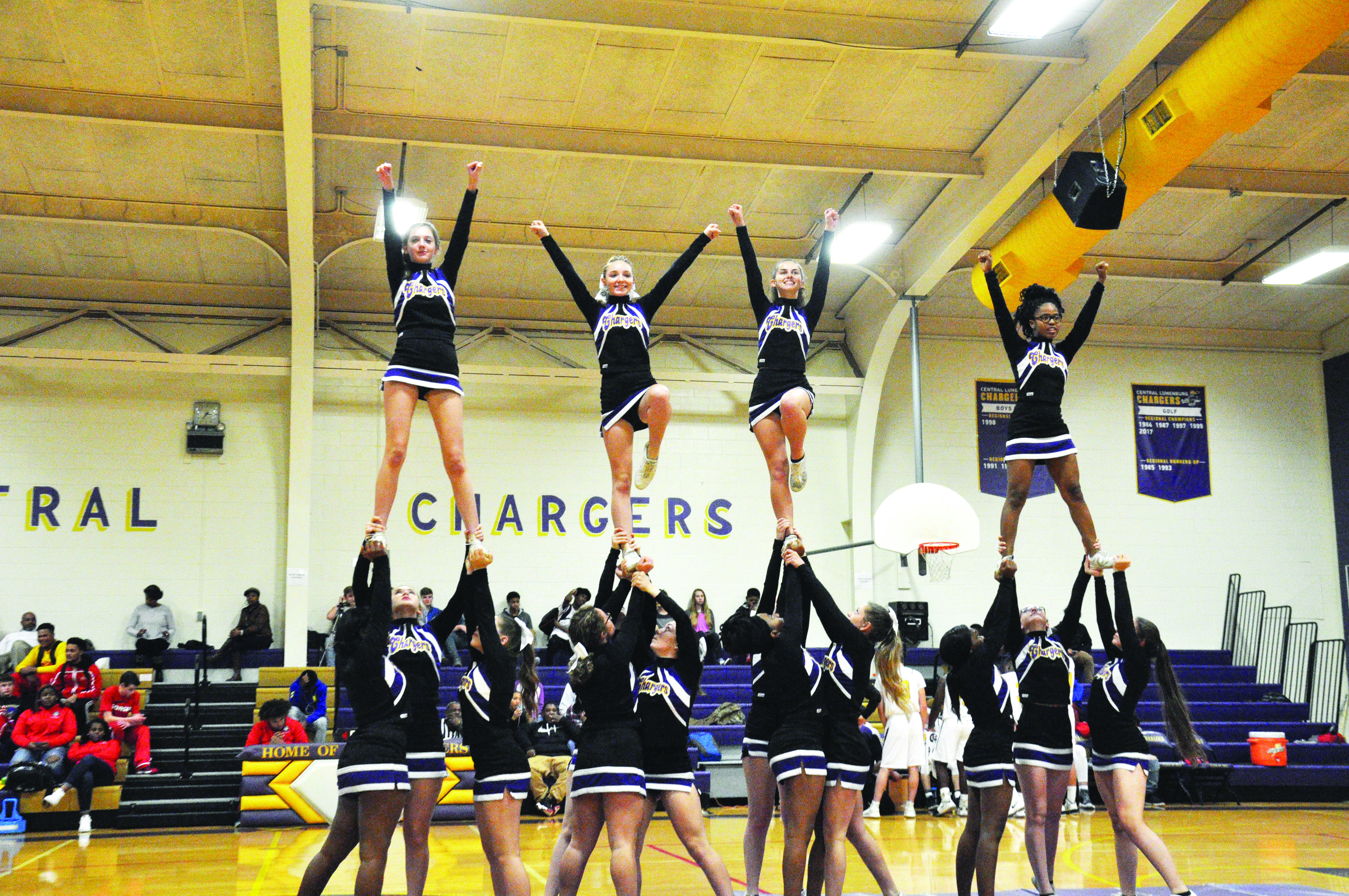 Chargers Take on top--Cheer